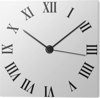 klocka med romerska siffror