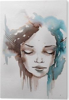 PVC Tavla Vinter, kallt porträtt