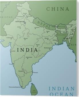 Kort Over Indien Pixerstick Klistermaerke Pixers Vi Lever For