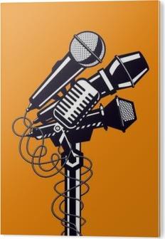 Musik plakat med mikrofoner. PVC Tryk
