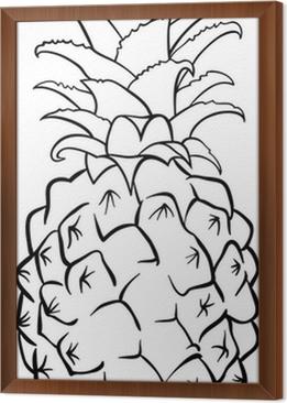 Stampa Su Vetro Illustrazione Di Cocco Per Libro Da Colorare