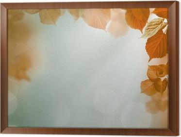 Carta da parati astratto autunno sfondo con foglie e la luce serale
