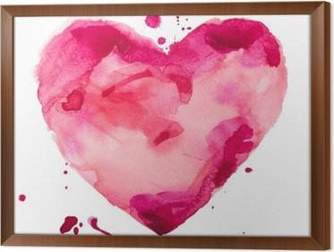Quadro in Cornice Cuore acquerello. Concept - amore, relazioni, arte, pittura