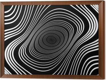 Carta da parati disegno in bianco e nero vortice ellisse movimento