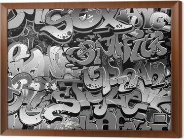 Quadro in Cornice Graffiti senza soluzione di continuità. Arte tessuto urbano
