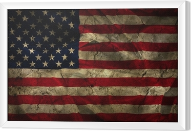 Quadro in Cornice Grunge American flag background