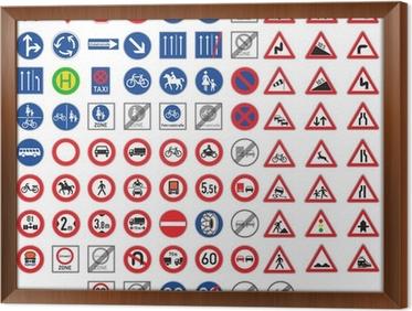 Cartelli Bagno Da Stampare : Carta da parati i segnali stradali e cartelli di pericolo impostati
