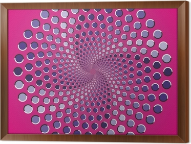 Carta da parati illusione ottica punti di colore ellisse u2022 pixers