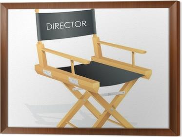 Quadro su tela illustrazione vettoriale di sedia da regista con tag
