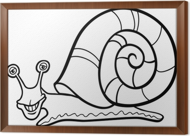Carta Da Parati Lumaca Fumetto Mollusco Per Libro Da Colorare