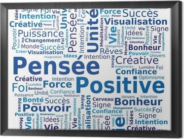 Quadro in Cornice Nube di parole - pensiero positivo in francese