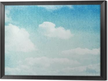 Quadro in Cornice Nuvole acquerello e sfondo del cielo