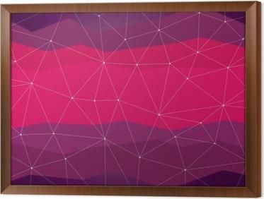 Quadro in Cornice Sfondo astratto, geometria, linee e punti
