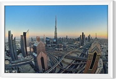 Quadro in Cornice Skyline di Dubai