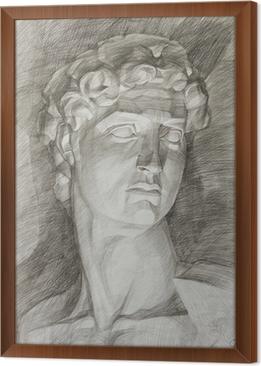 Carta da Parati Teste figura in gesso delle statue antiche • Pixers ...