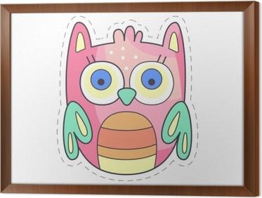 Adesivo toppa di panno colorato carino owlet applique per bambini