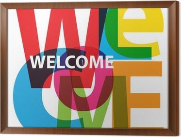Carta Da Parati Vector Benvenuto Testo Rotto Pixers Viviamo