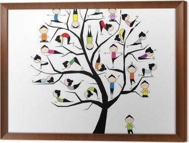 Ufficio Disegno Yoga : Quadro su tela yoga pratica concetto di albero per il vostro