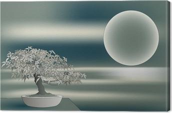 Quadro su Tela Acero giapponese Bonsai