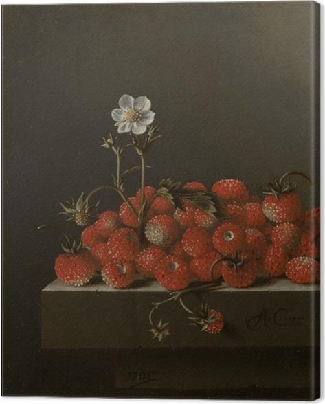 Quadro su Tela Adriaen Coorte - Still Life with Wild Strawberries - Riproduzioni