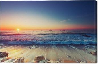 Quadro su Tela Alba sul mare