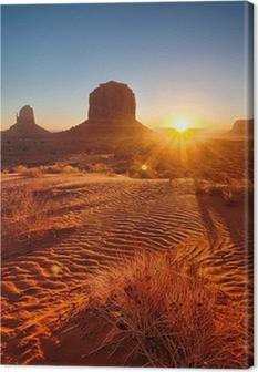 Quadro su Tela Alba sulla Monument Valley, USA