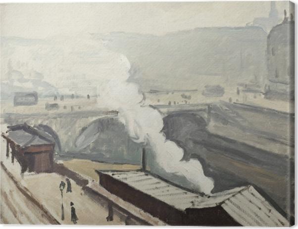 Quadro su Tela Albert Marquet - Furmo sulla banchina di Saint-Michel - Reproductions
