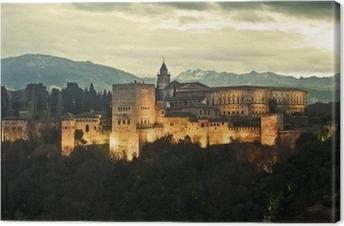 Quadro su Tela Alhambra Palace at Dusk