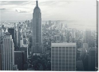 Quadro su Tela Amazing view to New York Manhattan at sunset