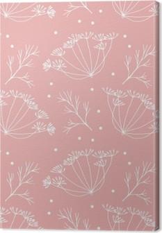 Quadro su Tela Aneto o finocchio fiori e foglie modello.