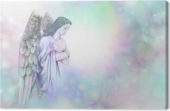 Quadro su Tela Angel on nebbiosa morbida cornice sfondo bokeh