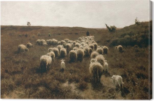 Quadro su Tela Anton Mauve - Il ritorno del bestiame, dintorni di Laren - Reproductions
