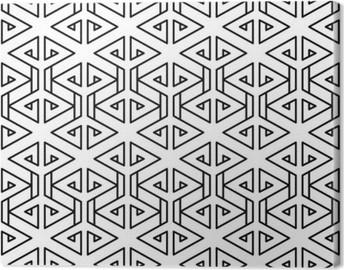 Quadro su Tela Astratto bianco e nero pantaloni a vita bassa disegno geometrico cuscino di moda