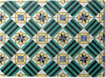 Carta da parati azulejos dipinto vecchio mano piastrelle a casa di