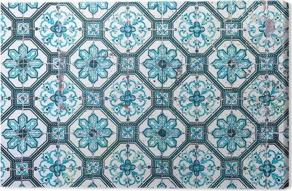 Quadro Su Tela Azulejos, Piastrelle Portoghesi Tradizionali