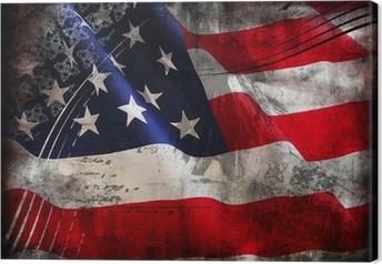 Quadro su Tela Bandiera degli Stati Uniti (Stati Uniti d'America)