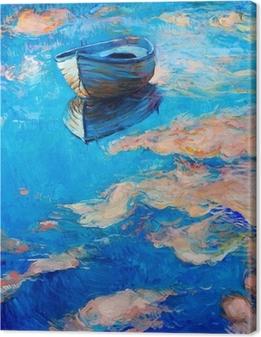 Quadro su Tela Barca in mare