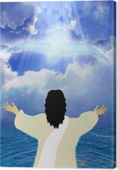 Quadro su Tela Battesimo di Gesù