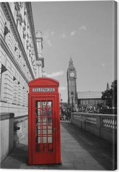 Quadro su Tela Big Ben e Phone Booth Red