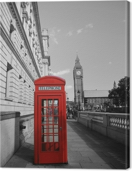 Quadro su Tela Big Ben e Phone Booth Red