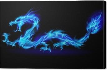 Quadro su Tela Blue Fire Drago