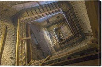 Quadro su Tela Bologna - Scale di Torre Asinelli