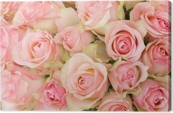 Quadro su Tela Bouquet di rose rosa