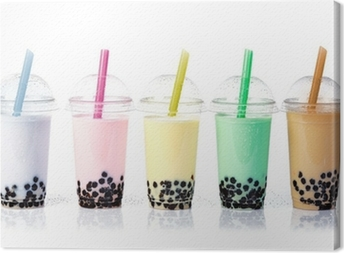 Quadro su Tela Bubble Tea in una riga