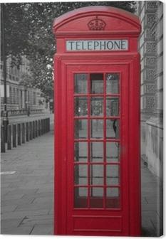 Quadro su Tela Cabina telefonica a Londra