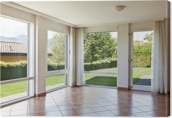 Quadri su tela finestra con vista pixers viviamo per il cambiamento - La finestra sul giardino ...