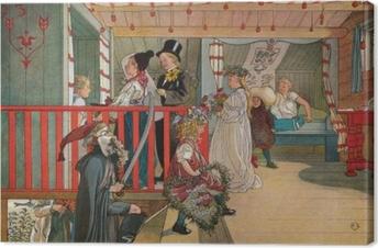 Quadro su Tela Carl Larsson - Onomastico nel capanno degli attrezzi