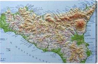 Cartina Toscana Dettagliata Da Stampare.Quadri Su Tela Cartina Geografica Pixers Viviamo Per Il Cambiamento