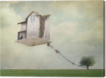 Quadro su Tela Casa Surreale