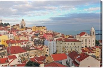 Quadro su Tela Case multicolore di Lisbona